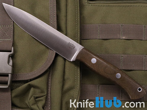 Bark River Knives Aurora II CPM 3V Green Canvas Micarta