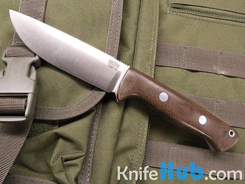 Bark River Knives Bravo 1 CPM 154 Green Canvas Micarta Fixed Blade Knife