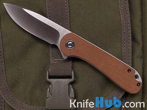 Civivi Knives Elementum C907M Brown Micarta D2 Satin Blade Folding Knife