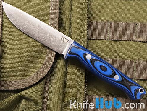 Bark River Knives Gunny Hunter CPM 3V Blue & Black G-10