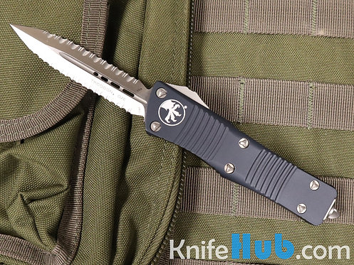 Microtech Troodon D/E Satin Double Full Serrated 138-D6