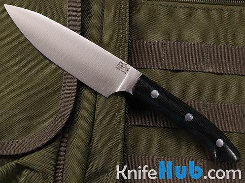 Bark River Knives Petty Z S45VN Black Canvas Micarta Red Liner