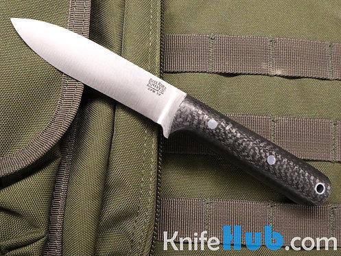 Bark River Knives Mini Kephart CPM 3V Black Carbon Fiber Fixed Blade Knife