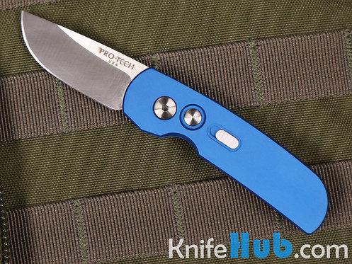 ProTech Calmigo Blue Handle Satin Blade Plain Edge 2203-BLUE