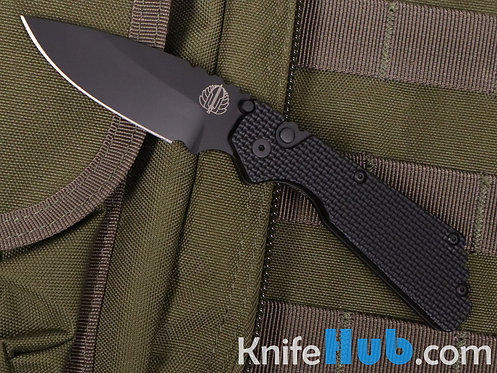 ProTech Pro-Strider PT Auto Black Super Grip Knurl Black Blade Plain Edge 2307