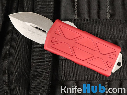 Microtech Exocet Red Stonewash Standard 157-10 RD