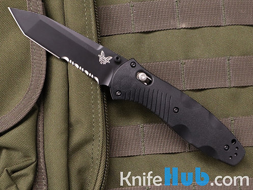 Benchmade Barrage Black Valox Handle Black Tanto Serrated Blade 154CM 583SBK