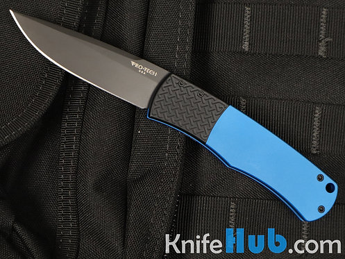Protech Whiskers BR1.7 Blue 154-CM Black Blade