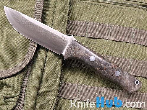 Bark River Knives Bravo 1 CPM M4 Black Maple Burl