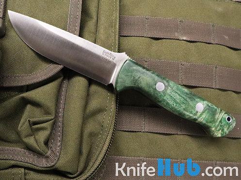 Bark River Knives Bravo 1 3V Green Gold Elder Burl Fixed Blade Knife