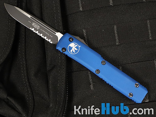 Microtech Ultratech S/E Blue Partial Serrated 121-2 BL