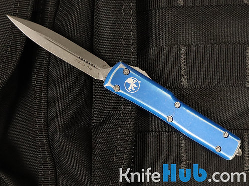 Microtech UTX-70 D/E Distressed Blue Apocalyptic Standard 147-10 DBL
