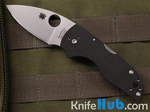 Spyderco Lil' Native Black G10 CPM S30V Satin Blade Back Lock C230MBGP