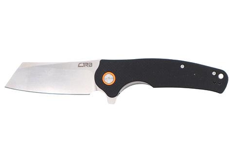 CJRB Crag Black G10 Scales Stonewash D2 Blade J1904 BKF
