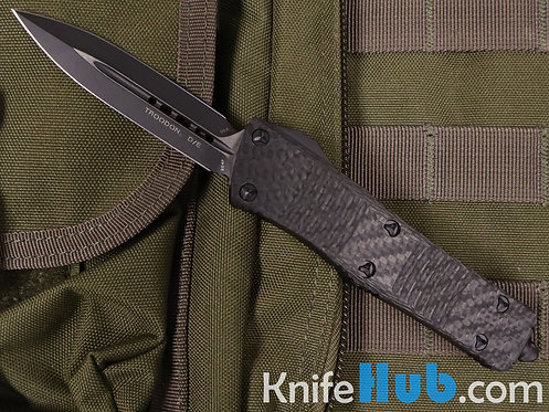 Microtech Troodon D/E Carbon FIber Top Tactical Standard 138-1 CFT