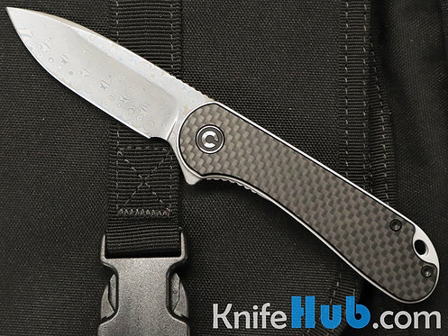 Civivi Elementum Black G10 Carbon Fiber Overlay Damascus Blade C907DS