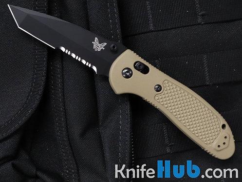 Benchmade Griptilian Tan Scales Black Tanto Serrated Blade S30V 553SBKSN-S30V