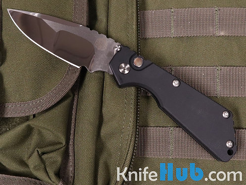 Protech 2440-Mirror Strider SNG BLK Micarta Top MOP Button Polished Blade 2020