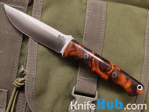 Bark River Knives Mini Gunny S45VN Desert Ironwood Burl #2 Black Liner Mosaic