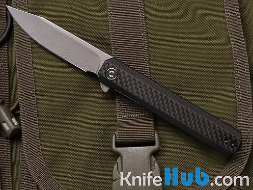 Civivi Knives Chronic C917DS Damascus Blade Carbon Fiber Folding Knife