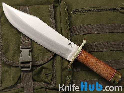 Bark River Knives V-44 Bowie LT Stacked Leather