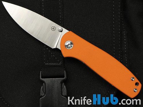 Alliance Knives Jasmine Ray Laconico Design Orange G10 Scales Satin M390 Blade