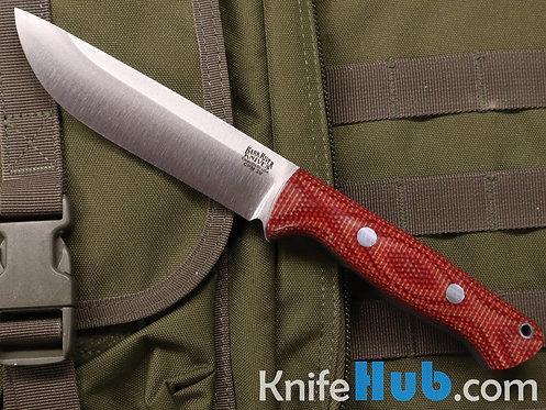 Bark River Knives Bravo 1.25 CPM 3V Firedog Canvas Thick Blue Liner Rampless
