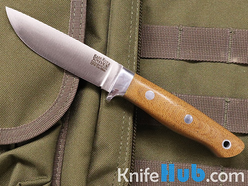 Bark River Knives Mountaineer II Cru-Wear Natural Canvas Micarta