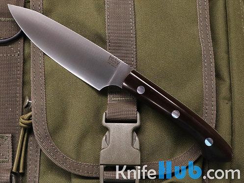 Bark River Knives Petty Z S45VN Mocha Micarta Sea Blue Liner