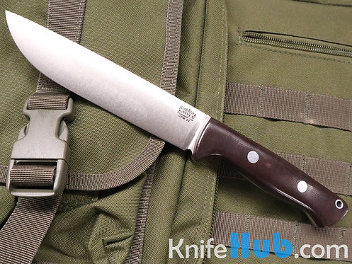 Bark River Knives Bravo 1.5 LT CPM 3V Burgundy Canvas Micarta