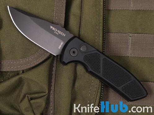 ProTech SBR LG407 Black Handle w/ Knurling Black Blade Plain Edge S35VN