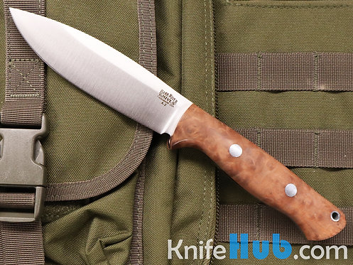 Bark River Knives UP Bravo Salmon Maple Burl #2