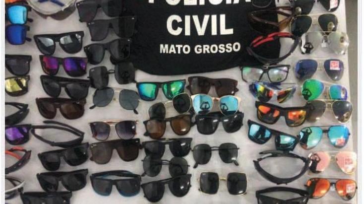 Primeira operação de combate a pirataria do ano apreende 154 réplicas de óculos na Capital