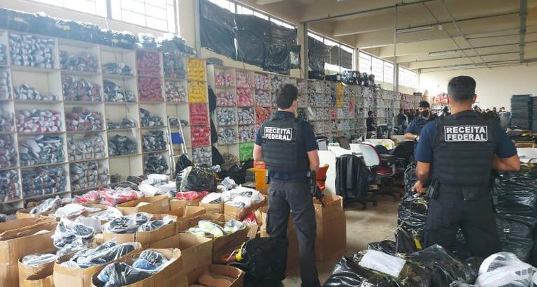 Operação Patrão: Receita Federal desmonta esquema gigantesco para venda de mercadorias falsificadas