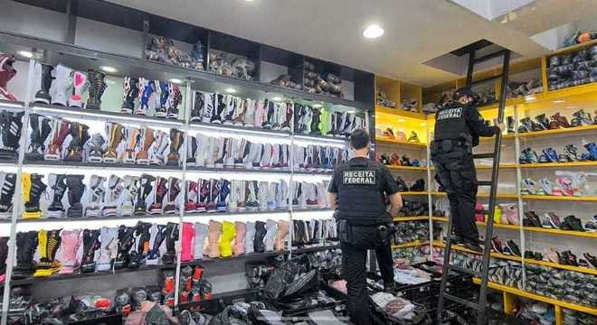 Receita faz operação de combate à venda de calçados falsificados em SP