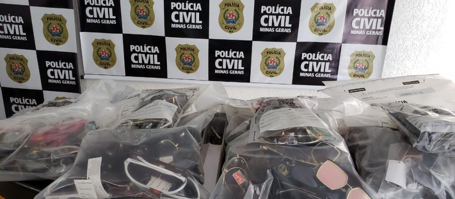 Operação Falsa Proteção: Polícia Civil apreende produtos óticos falsificados