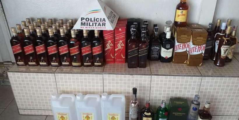 PM apreende 67 garrafas de bebida falsificada na Grande BH
