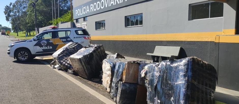 Polícia Militar Rodoviária apreende carga de produtos do Paraguai sem nota fiscal na SP-270