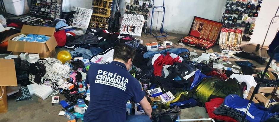 Operação integrada apreende mais de 60 mil itens sem procedência no Centro de Porto Alegre