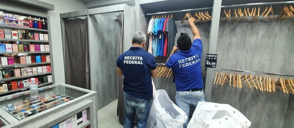 Receita Federal apreende mercadorias durante fiscalização em shoppings de Uberlândia