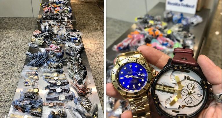 Alfândega no Aeroporto de Manaus retém caixa com relógios contrafeitos