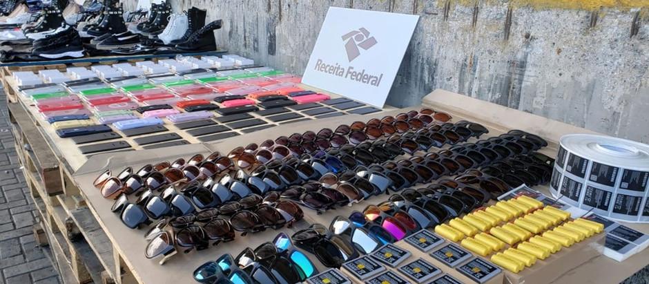 Receita intercepta 21,6 toneladas de produtos de 'luxo' falsificados no Porto de Santos