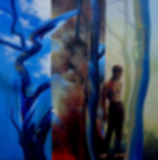 #9 Dream - Acrylic 92cm sq-alanmorrison.