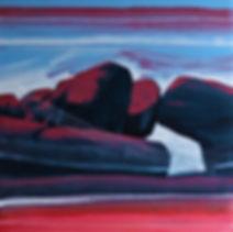 Giraween Boulders II Acrylic Mixed Media