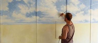 50s 60s Australiana mural started.jpg