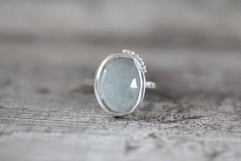 Grains Aquamarine Ring