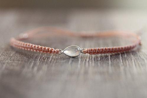 Labradorite Bracelet in Peach