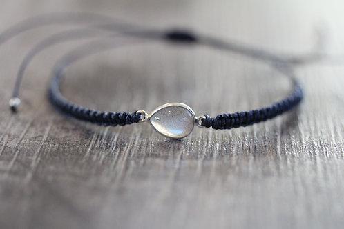 Labradorite Bracelet in Navy