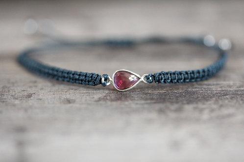 Garnet Bracelet in Dark Teal