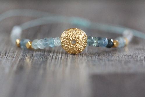 Sea Urchin Aquamarine Bracelet